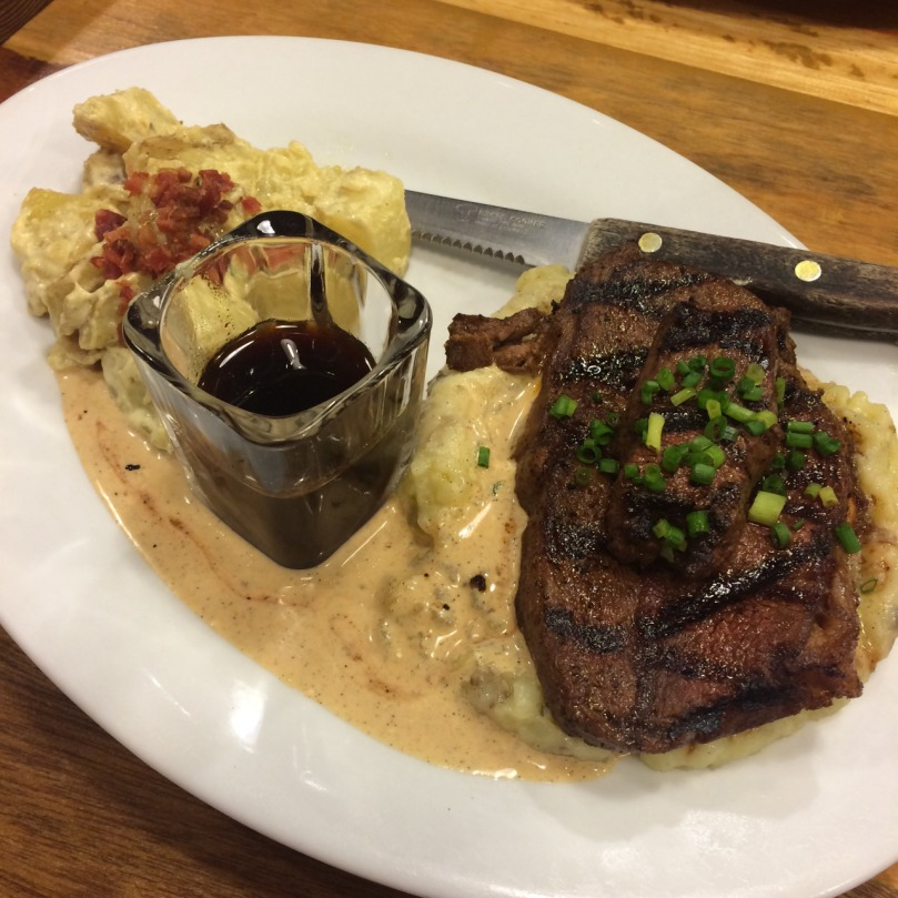 Signature Steak with Bootstrap Steak Sauce + Smashed Potato + Bacon Potato Salad